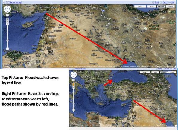 The location of Noah's Flood